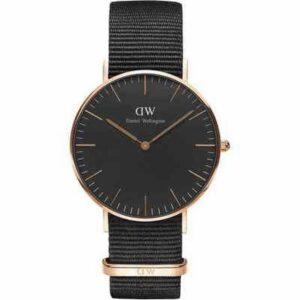 DW00100150 DW BLACK CLASSIC CORNWALL ROSE GOLD 36