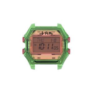 IAM-007-1450 IAM LADY TRASNP GREEN CASE + PINK GLA