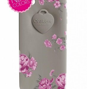 OPSCOVI5-16 COVER OPSOBJECTS FLOWER IPHONE 5 GREY