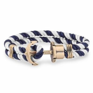 PH-PH-N-NW-S ANCHOR BRACELET PHREP BRASS NYLON NAV