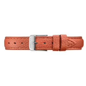 STSS-S145 STITCHED TANGERINE SILVER STRAP