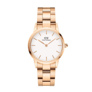 DW00100213 LINK WATCH ROSE GOLD 28MM