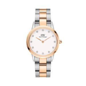 DW00100358 LINK WATCH ROSE GOLD & SILVER 32MM