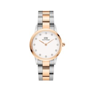 DW00100359 LINK WATCH ROSE GOLD & SILVER 28MM