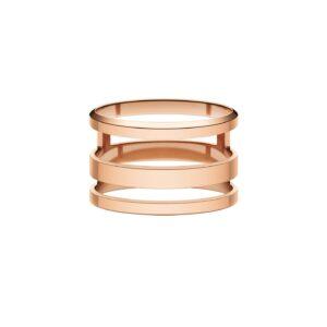 DW00400129 ELAN TRIAD RING ROSE GOLD MIS 54