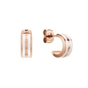 DW00400148 EMALIE EARRINGS ROSE GOLD WHITE