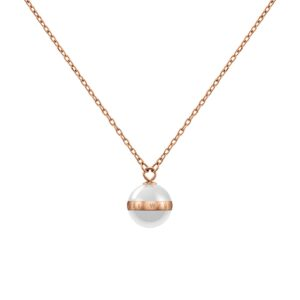 DW00400157 ASPIRATION NECKLACE ROSE GOLD WHITE