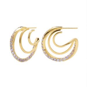 AR01-248-U PDP CAVALIER MAJESTICA EARRINGS GOLD