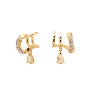 AR01-249-U PDP CAVALIER LUMIERE EARRINGS GOLD