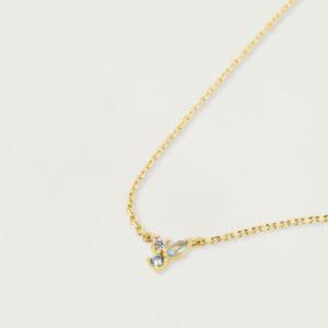 CO01-176-U ATELIER MIDNIGHT BLUE GOLD NECKLACE