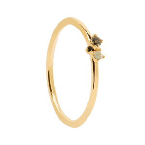 AN01-194-14 ATELIER LIME BLUSH GOLD RING MIS 14