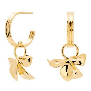 AR01-185-U BLOSSOM IVY GOLD EARRINGS