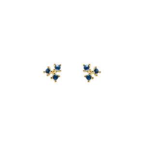 AR01-188-U BLOSSOM DAISY GOLD EARRINGS