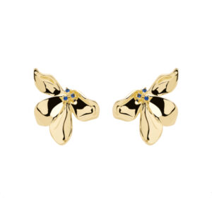 AR01-190-U BLOSSOM FLEUR GOLD EARRINGS