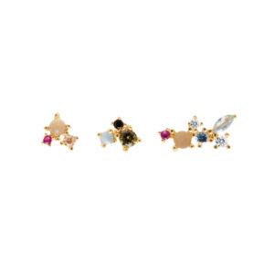 AR01-209-U ATELIER LA PALETTE GOLD EARRINGS